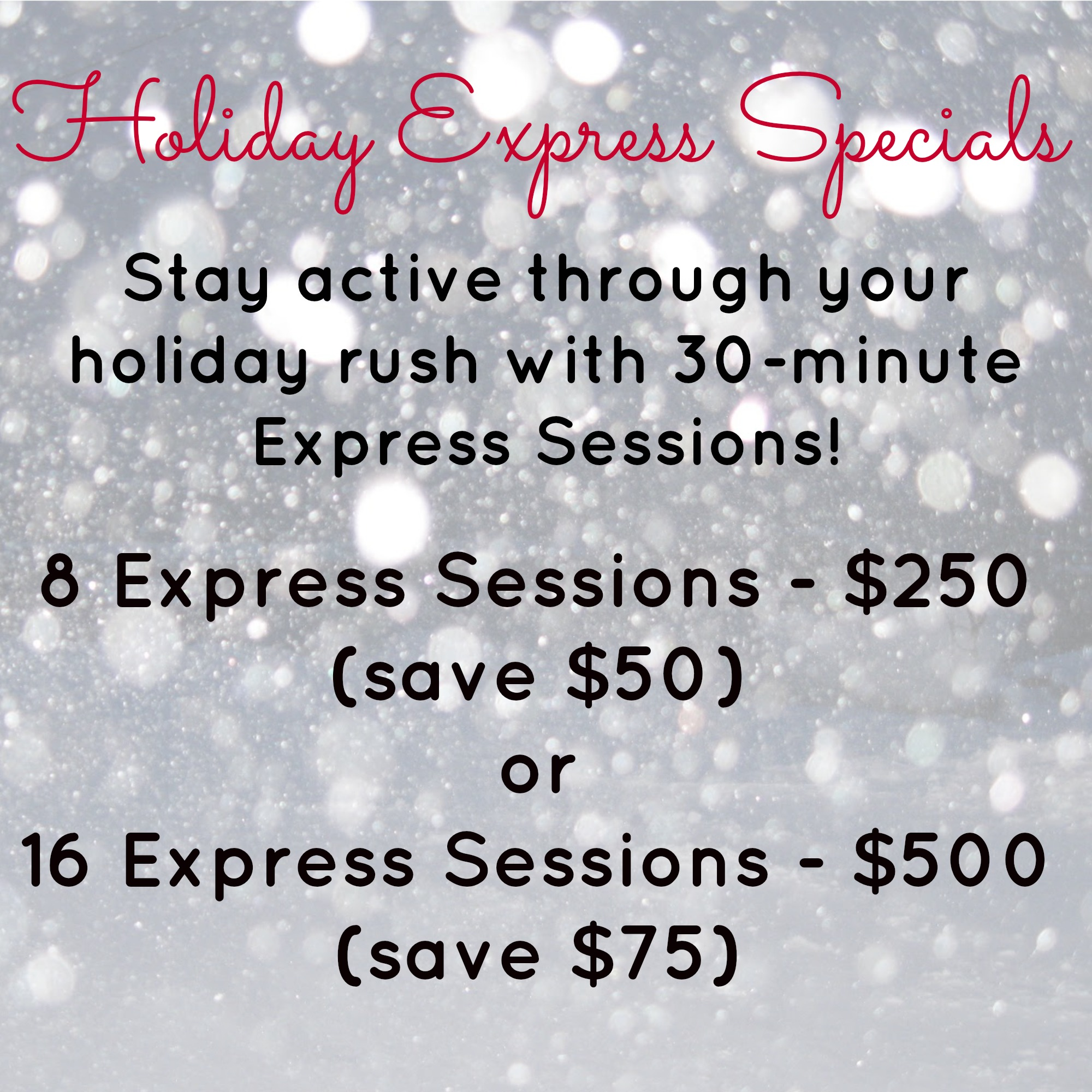 Holiday Express Specials