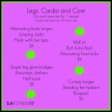 Legs, Cardio and Core