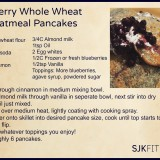 Blueberry Whole Wheat and Oatmeal Pancakes