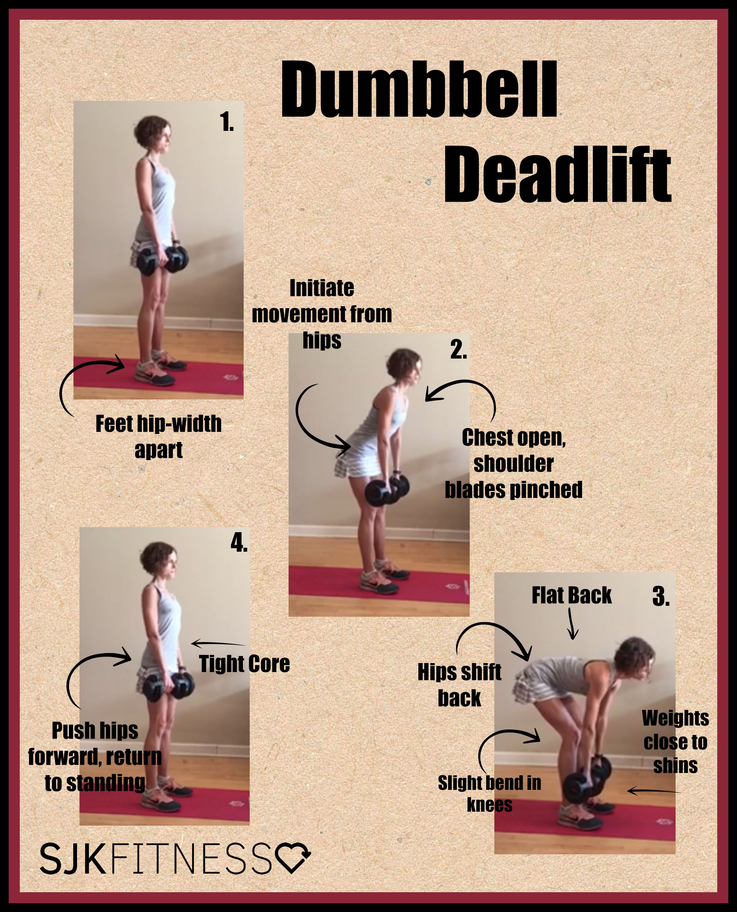 Dumbbell Deadlift Description