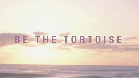 be the tortoise