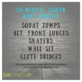 20-Minute lower body circuit