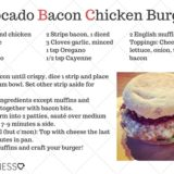 Avocado Bacon Chicken Burgers
