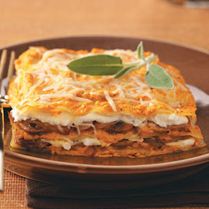 pumpkin-and-spinach-lasagna