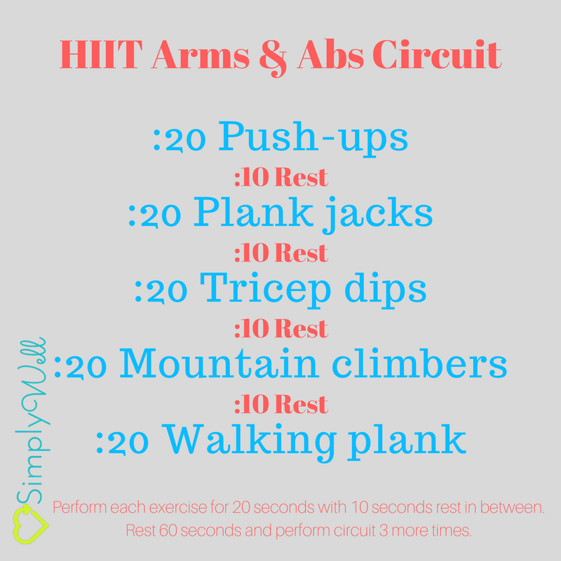 HIIT Arms Abs Circuit Everything Workouts