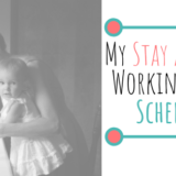 stay at home working mom schedule