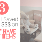ways to save money on baby items