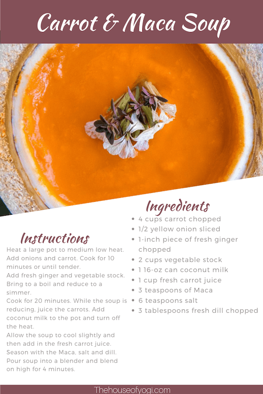 Carrot and maca soup