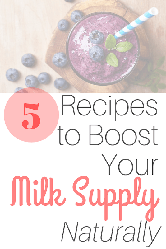 recipes to boost milk supply naturally